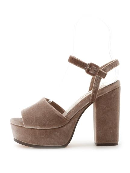 簡約繫帶造型高跟涼鞋