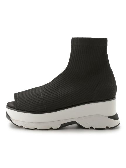 露趾襪套設計涼鞋
