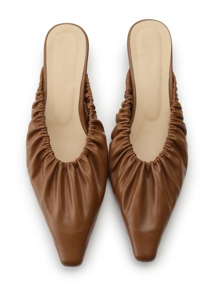 抓皺平底穆勒鞋