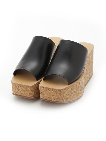 透明方頭厚底拖鞋
