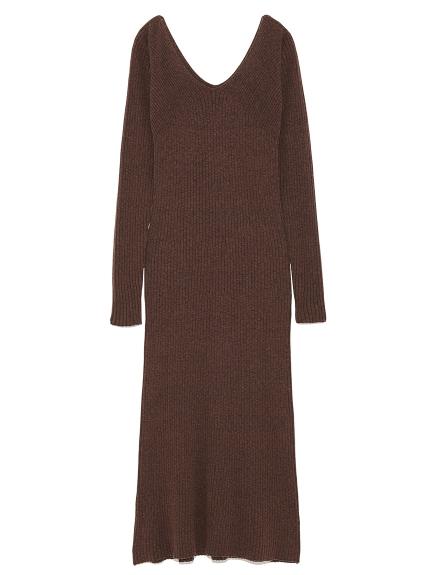 純色羅紋長版連身裙