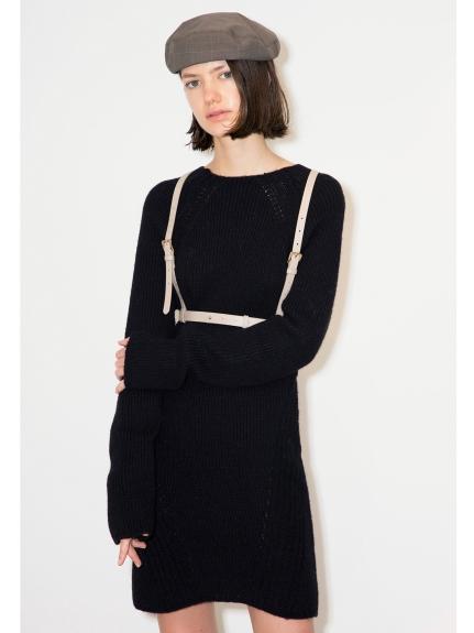純色羊毛針織連身裙