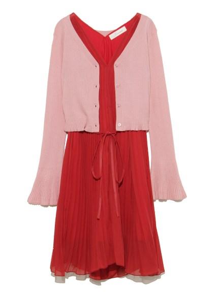 針織外套連身裙組合