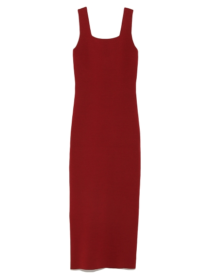 窄版針織長版洋裝