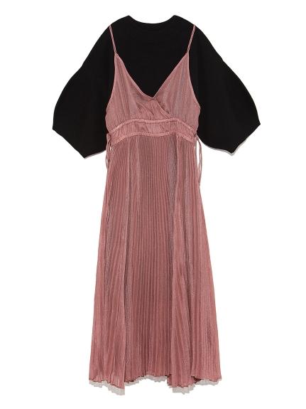兩件式異素材薄紗洋裝
