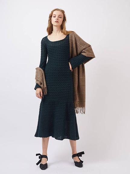 鏤空鉤編針織洋裝