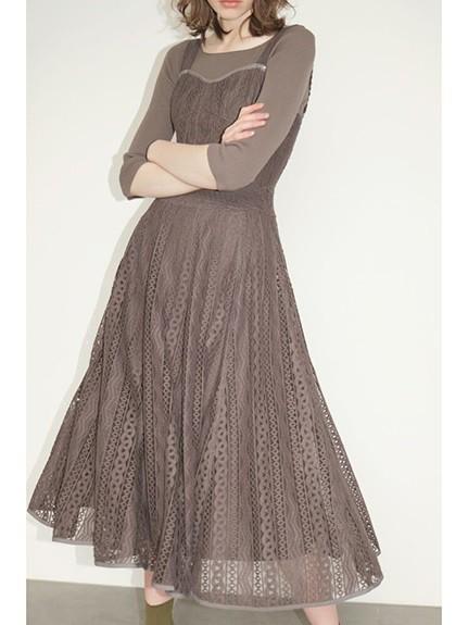 馬甲風蕾絲吊帶洋裝