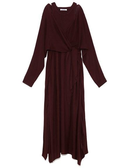 兩件式設計感針織洋裝
