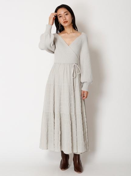 異材質拼接設計款洋裝