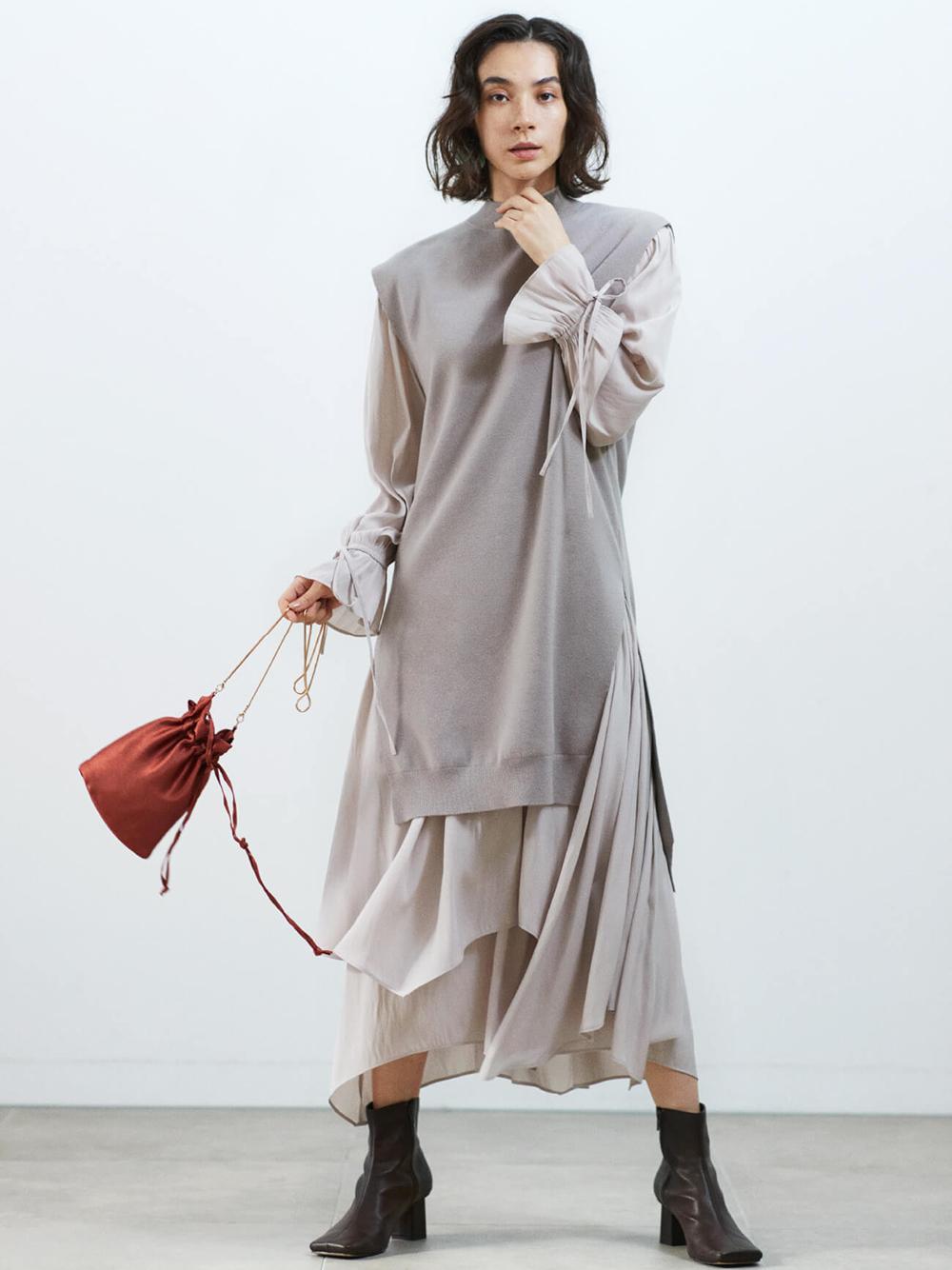 針織背心連身裙組合
