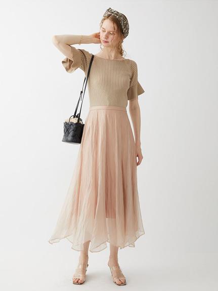 露臂針織拼接連身裙