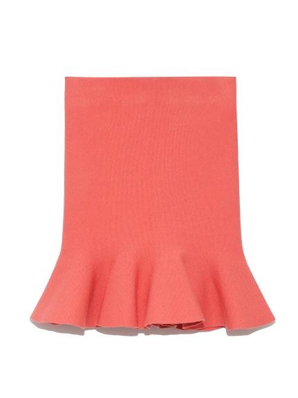 荷葉襬針織褲裙