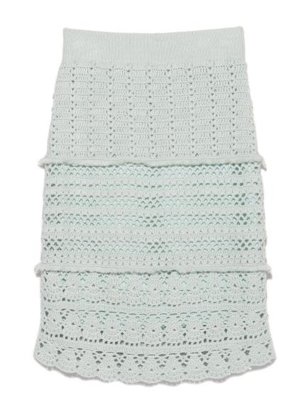 鉤針造型針織緊身裙