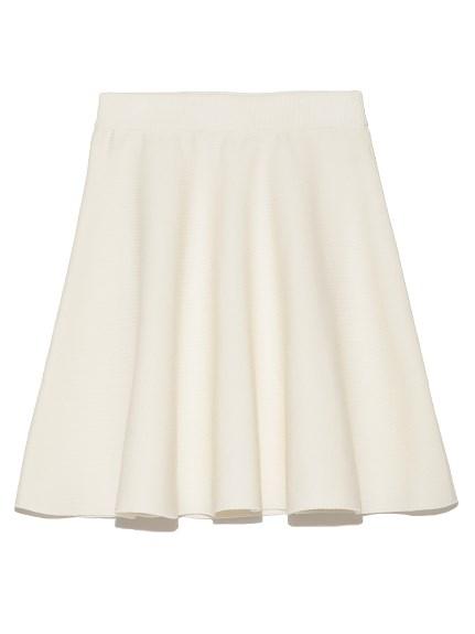 素面針織圓裙