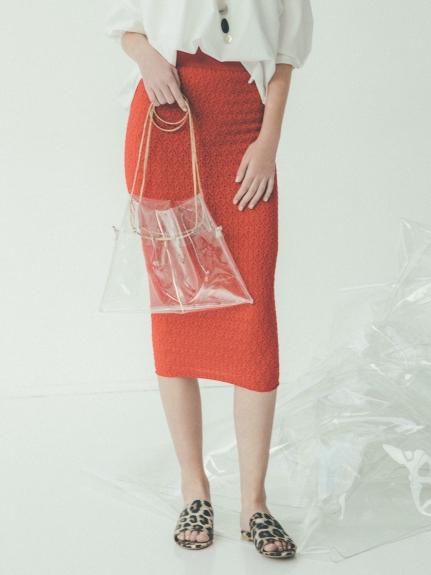 花紋針織窄裙