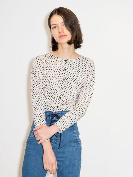 造型印花開襟衫