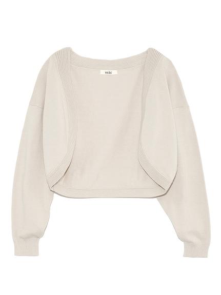 簡約針織短罩衫