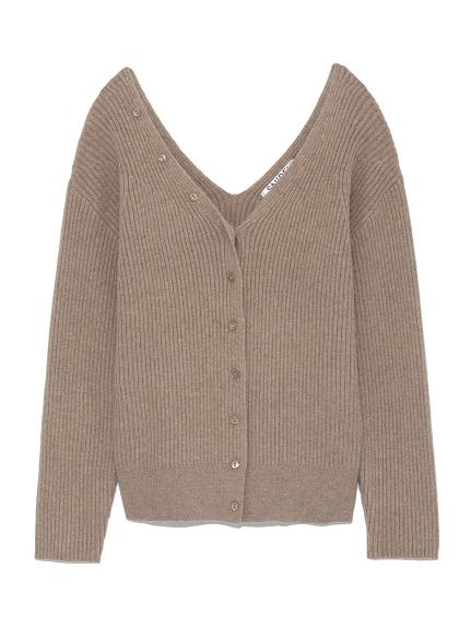 簡約羅紋開襟衫