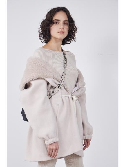混羊毛針織上衣