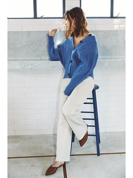 麻花編織感設計開襟罩衫