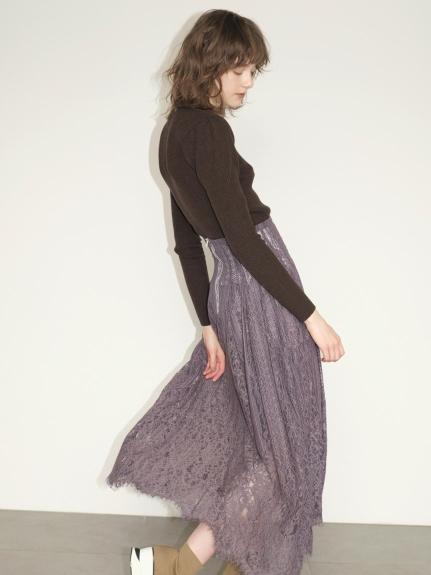 微高領直織紋合身毛衣