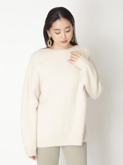 寬版毛海毛衣