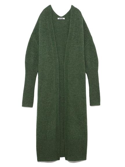 羊毛長版開襟罩衫