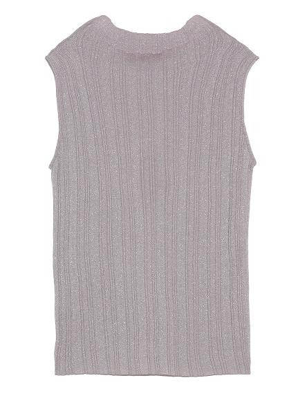 變化羅紋無袖針織上衣
