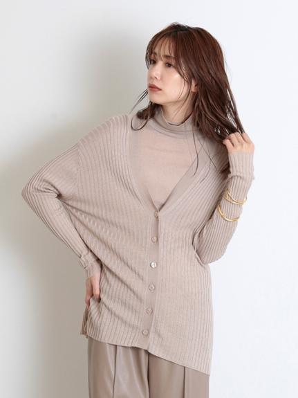 羅紋中長版針織外套