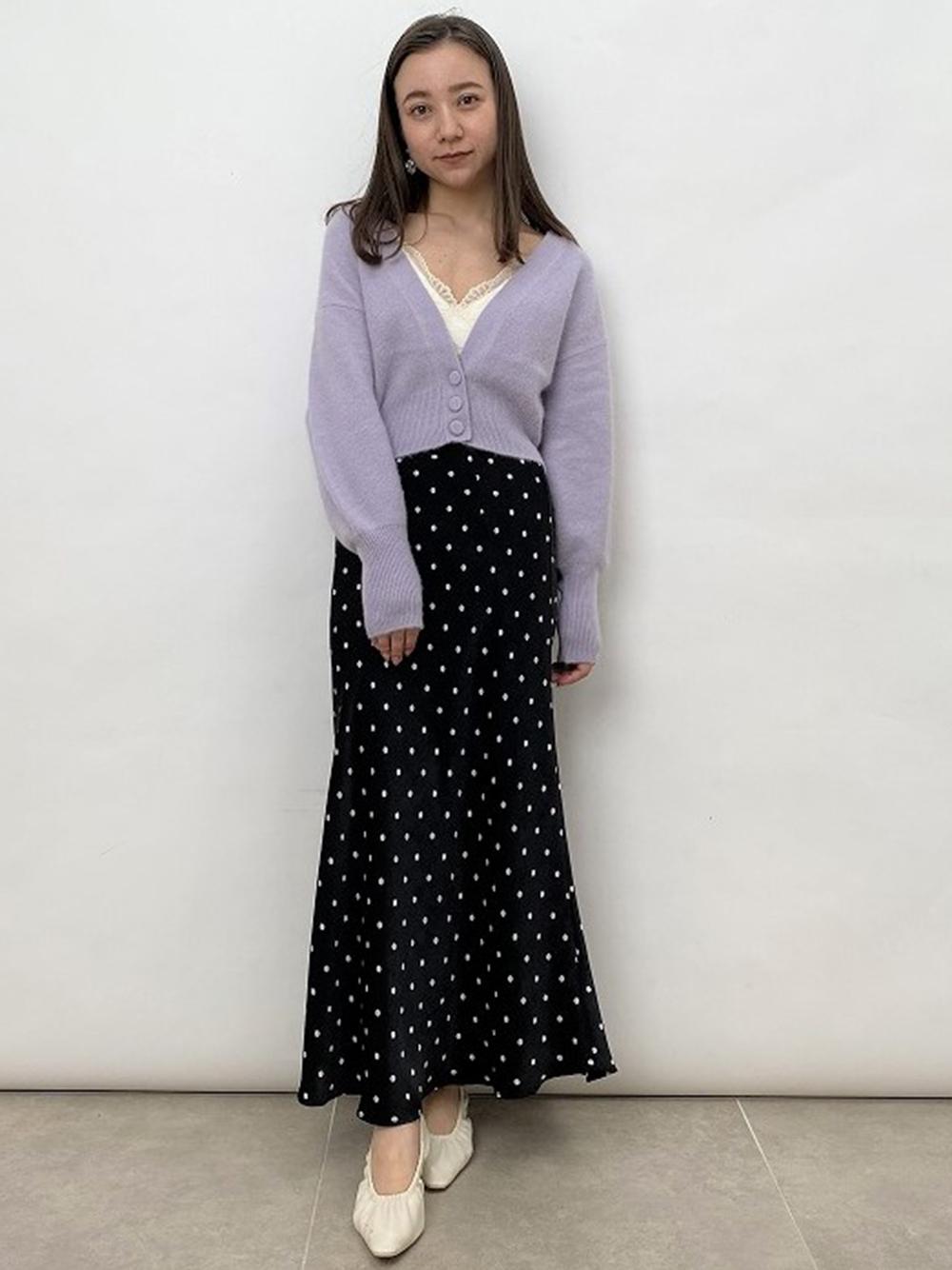 毛絨寬袖針織開襟衫