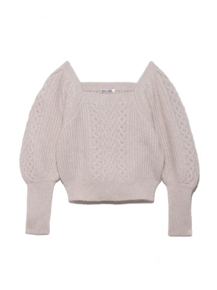 亮蔥麻花編針織上衣