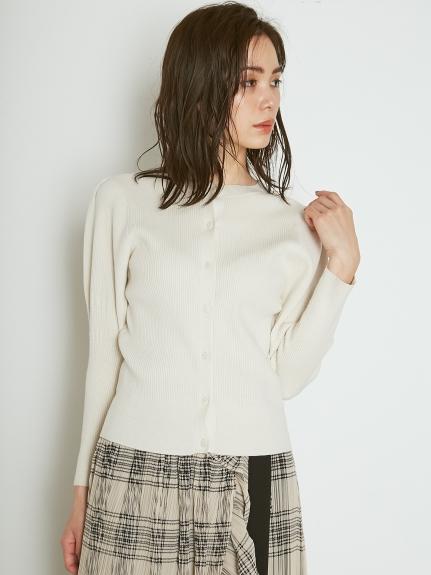 ORGANICS澎袖針織開襟衫