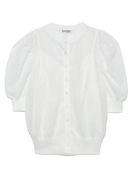 半袖輝光針織開襟衫