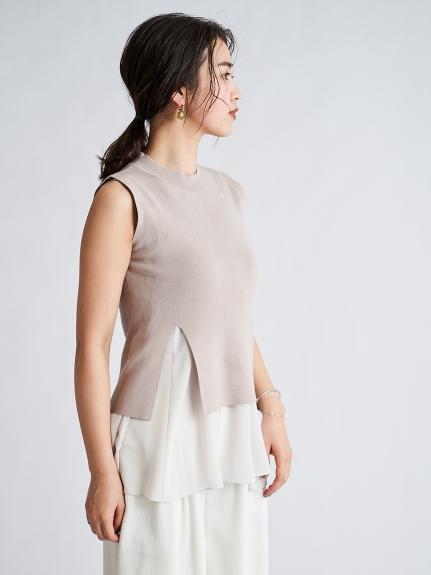 Sustainable針織+傘襬細肩帶SET