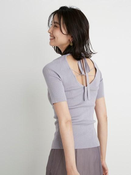 Sustainable露背綁帶針織上衣