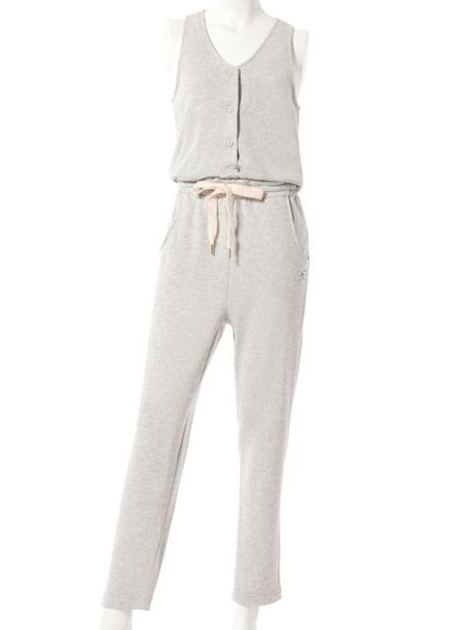 棉質無袖連身褲