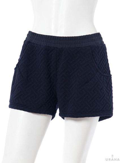 立體壓紋短褲