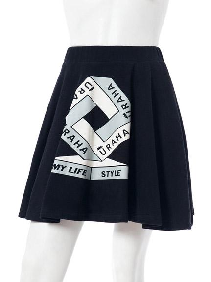 LOGO塗鴉印花短裙