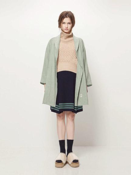 絨紋長版外套