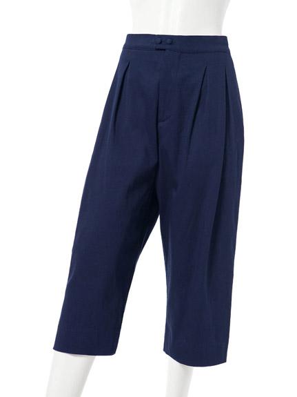 簡約七分單色寬褲