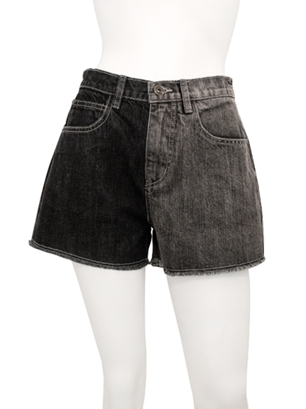 拼色牛仔短褲