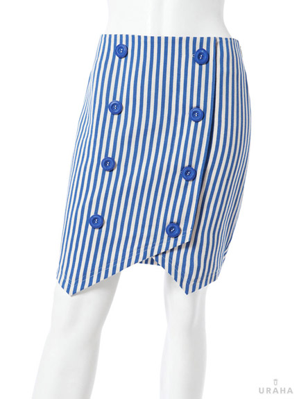 條紋合身窄裙
