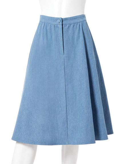 及膝牛仔圓裙