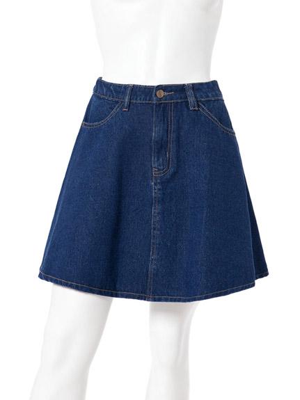 丹寧短圓裙