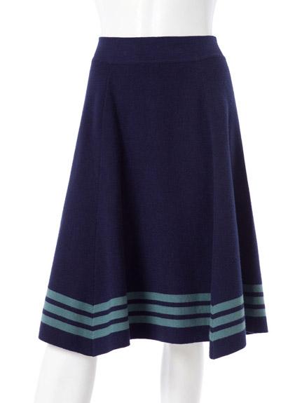 學院風針織圓裙