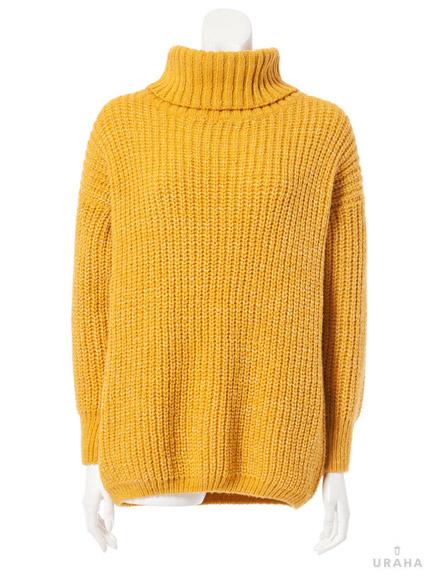 羅紋粗針高領毛衣