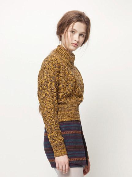 高領混織毛衣